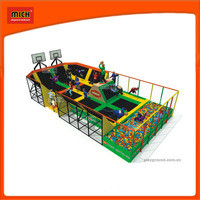 Source 2014 Newest big kids indoor commercial trampolines for amusement park on m.alibaba.com