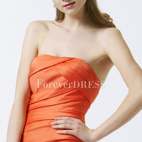 Satin Bridesmaid Dress Styling Shirring Tight Style Hourglass Body Shape Dipped Neckline