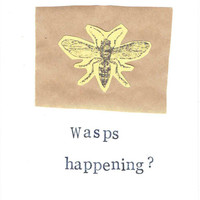 Funny Nerdy Natural History Science Insect Card: Wasps Happening