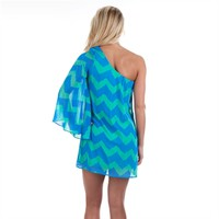 As U Wish Juniors One-Shoulder Chevron Shift Dress at Von Maur