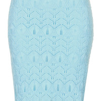 Knitted Lace Stitch Skirt