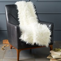 Faux Fur Throw - Mongolian Lamb