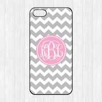 Chevron Monogram iPhone 5 Case,Gray Chevron Monogram iPhone 5 5s Case,Hard Plastic Rubber cover skin for iphone 5/5s cases,More styles