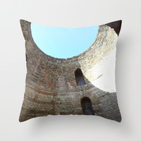 DIOCLEZIANO'S PALACE Throw Pillow by Melania Emma