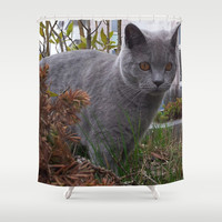 A NEW FRIEND 2 Shower Curtain by Melania Emma