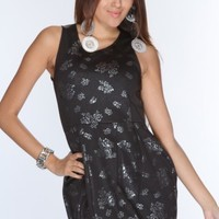 Black Silver Floral Print Cut Out Sexy Dress @ Amiclubwear sexy dresses,sexy dress,prom dress,summer dress,spring dress,prom gowns,teens dresses,sexy party wear,women's cocktail dresses,ball dresses,sun dresses,trendy dresses,sweater dresses,teen clothing
