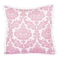 Damask Pink Cushion by Lullaby Linen