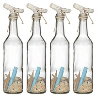 Message in a Bottle, 28cm (Set of 4) by Amalfi