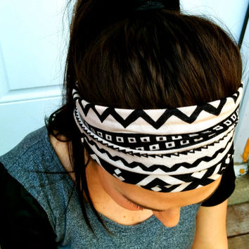 Tribal Print Jersey Knit Headband