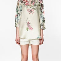 FLOWER PRINT TUNIC 