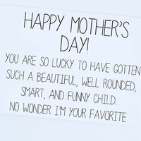 Happy Mother's Day, Funny Mother's Day Card, Mother's Day Greeting Card, Funny Card for Mom