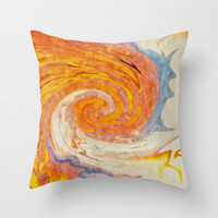 SKY FIRE Throw Pillow by Catspaws | Society6