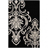 Candice Olson Modern Classics Black Contemporary Rug - CAN1951 - Black and Gray Rugs - Area Rugs by Color - Area Rugs