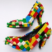 Lego Embellished Stilettos - Haute or Not | Inhabitat - Green Design Will Save the World