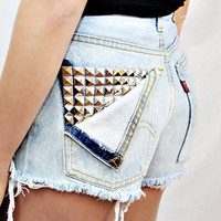 Studded Pocket Shorts