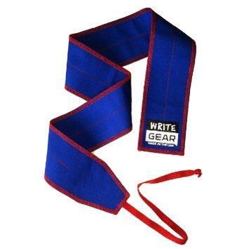 Blue with Red Cotton Ripstop Athletic Wrist Wraps