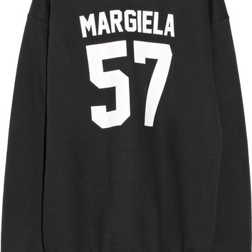 LPD New York | Team Margiela printed cotton-fleece sweatshirt | NET-A-PORTER.COM