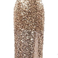 Golden Globe Dress | Gold Sequin One-Shoulder Maxi Dresses | Rickety Rack
