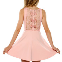 Papaya Clothing Online :: QUTY LACY BACK BOW FLARE DRESS
