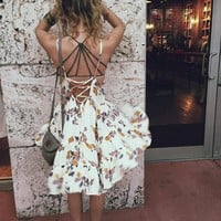 Free People Womens Circle of Flowers Slip
