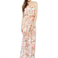 Papaya Clothing Online :: FLORAL LACY BELTED MAXI DRESS