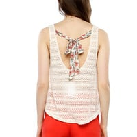 Papaya Clothing Online :: FLORAL TIE KNIT TOP