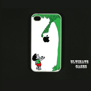Iphone 4 case  Giving Tree Black Apple  Iphone 4s by ultimatecases