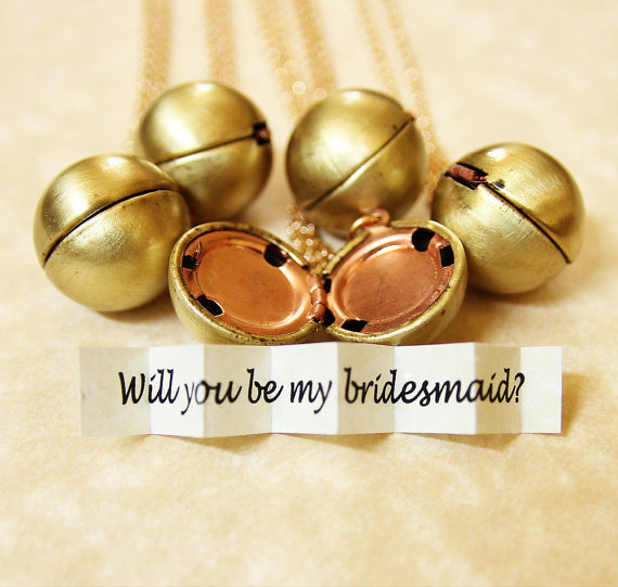 Bridesmaid Locket  Secret Message Bridesmaid by HeartworksByLori