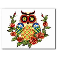 Owl and Roses Mexican style