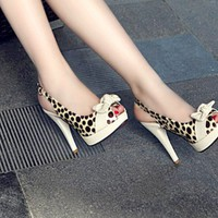 Wholesale 2012 new sandals peep toe round dot color matching bowknot waterproof increased sandals Z-RXE-29 rice - Lovely Fashion