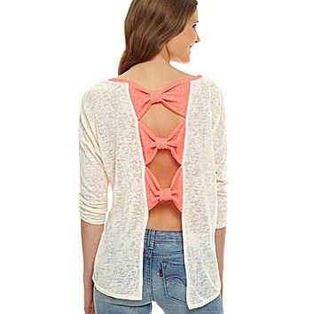 Moa Moa Triple-Bow-Back Top | Dillards.com