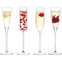 LSA - Set of four assorted Lulu champagne glasses | Selfridges.com