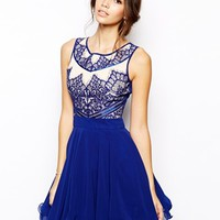 Chi Chi London Prom Dress with Eyelash Detail