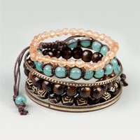 FULL TILT Bead & Bangle Bracelet Set 172959400 | bracelets | Tillys.com