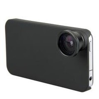 Fish Eye Camera Lens + Hard Back Case Cover for iPhone 4 4G 4S