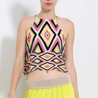 Tribal Kaleidoscope Crop Top | MakeMeChic.com