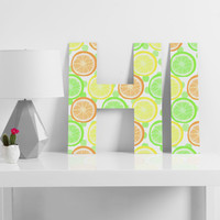 Lisa Argyropoulos Citrus Wheels And Dots Decorative Letters