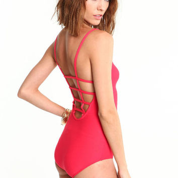 CAGED SEXY BACK BODYSUIT