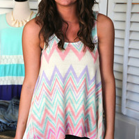 Chevron Knit Tank