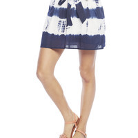Self Tie Dye Mini Skirt | Wet Seal