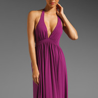 SUSANA MONACO Light Supplex Halter Maxi Dress in Dragon Fruit at Revolve Clothing - Free Shipping!