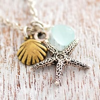 Starfish necklace by MegusAttic