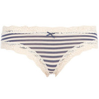Navy/cream stripe mini shorts - View All - Dorothy Perkins