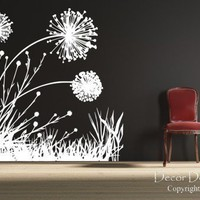 Dandelion Scene Vinyl Wall Decal | DecorDesigns - Housewares on ArtFire