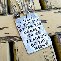 Not Fearful of the Night Necklace by Crafting4Cause on Etsy