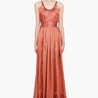 Rick Owens Rusted Coral Beach Dress for women | SSENSE