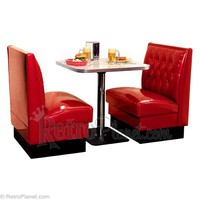 Diner Booth Tufted Style Free US/48 Shipping RetroPlanet.com
