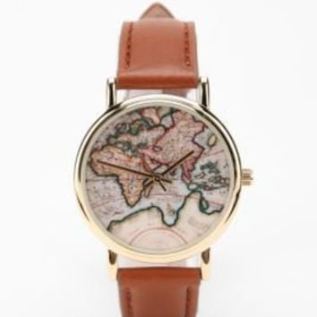 Around The World Leather Watch-