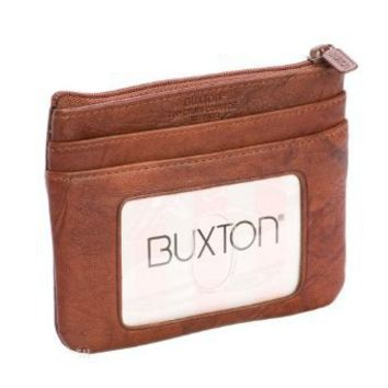 Buxton Brown Card Case w/ Removable Card Holder
