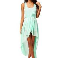 Green Cocktail Dress - Bqueen Chiffon Wrap Dress with | UsTrendy